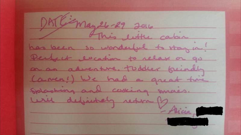 What a recent guest had to say about her stay