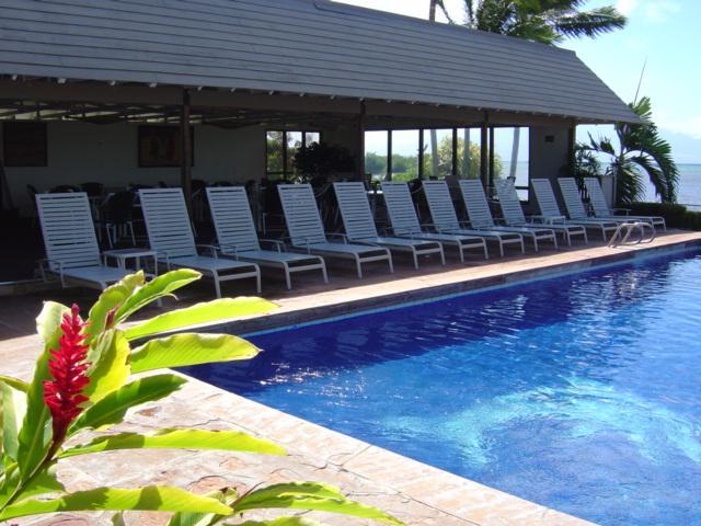 'Blue Dolphin Pool' and cabana.