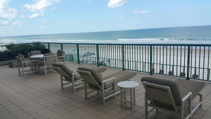 Huge 500 Square foot direct oceanfront private balcony