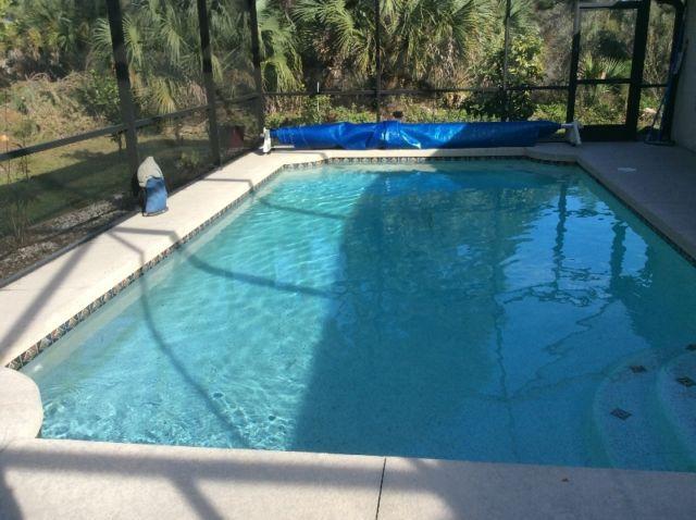 Private large salt water pool