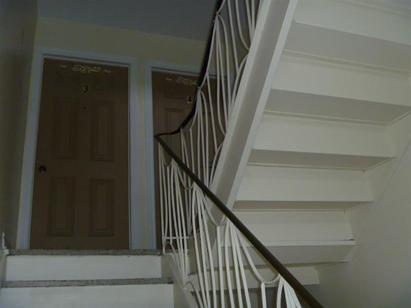 Steps to the second floor