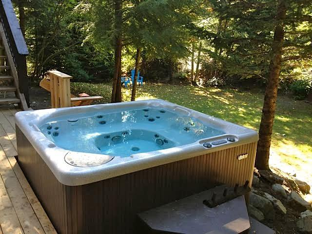 Sparkling Hot Tub in the Secluded Backyard