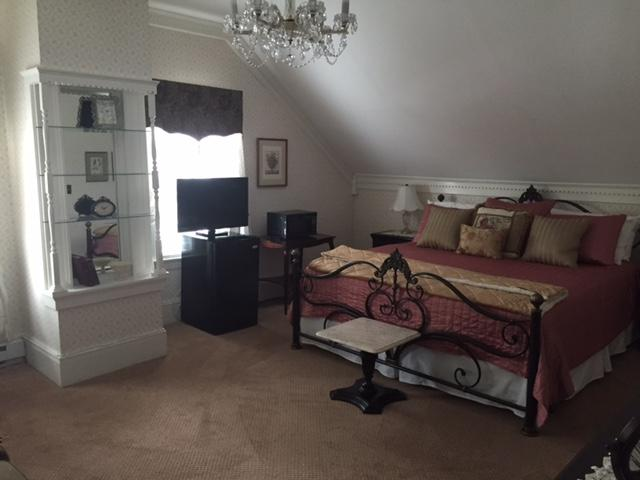 Recently renovated this Suite is on the third floor. Boasts everything new AND a chandelier!