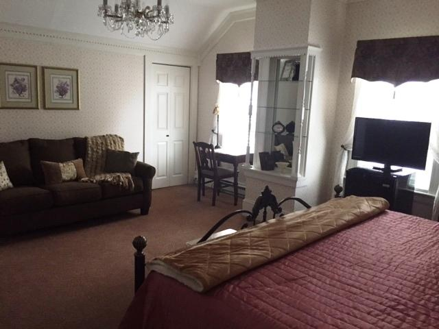Enjoy the lovely sitting area with new sleep sofa or use it and this suite can accommodate 4 guests.