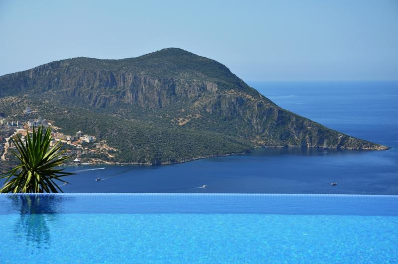Fantastic view of the pool and Kalkan Bay