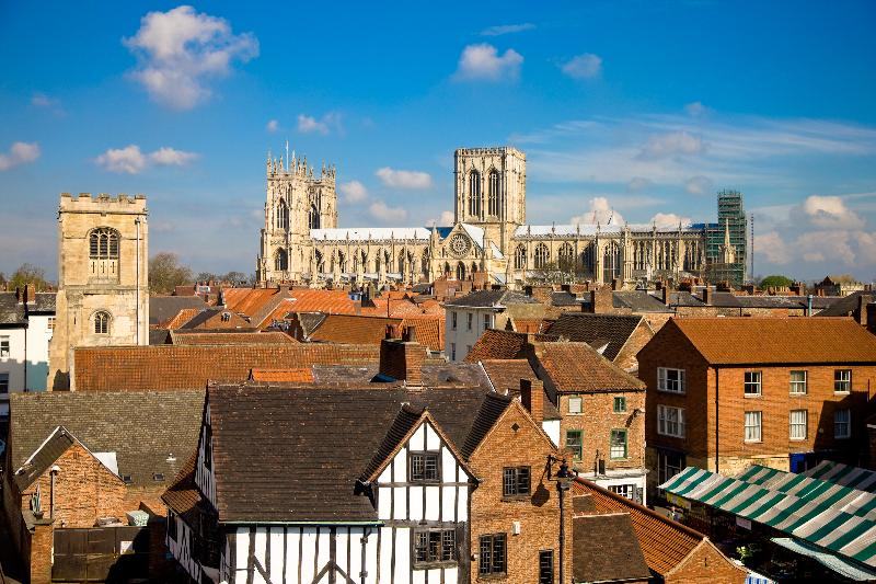 Beautiful view of the Minster - taken in the town centre looking over the market and rooftops.