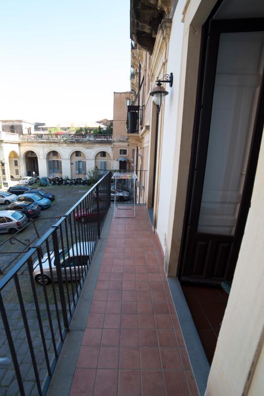 balcony overlooking the inner courtyard