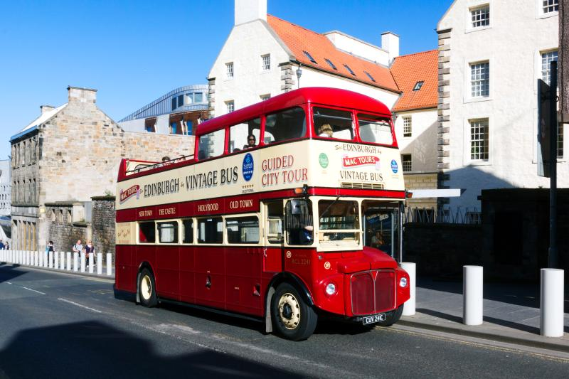 One of the many tourist buses. This hop-on/off tour is 5mins walk from the flat