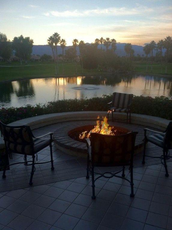 Amazing mountain views from the clubhouse firepit.