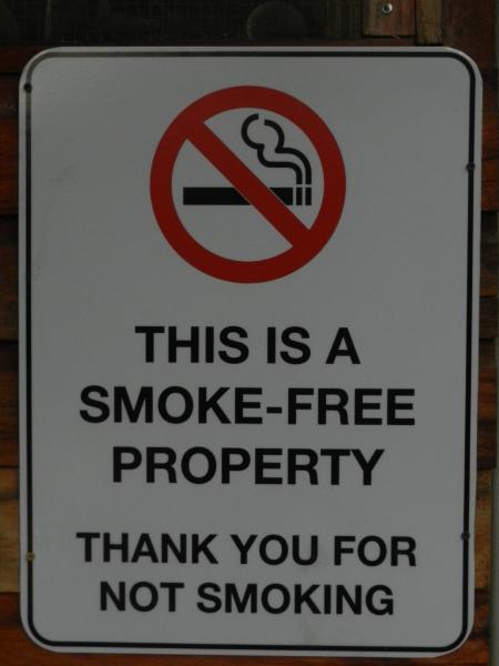 We are a smoke-free property.
