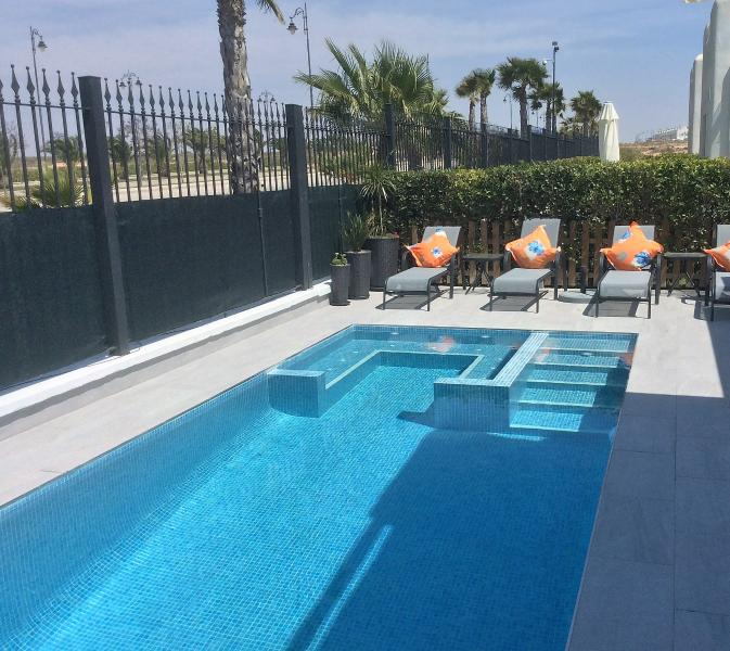 VILLA with NEW PRIVATE POOL/Spa +Terraces and plenty  comfy furniture to relax in or out of the Sun!