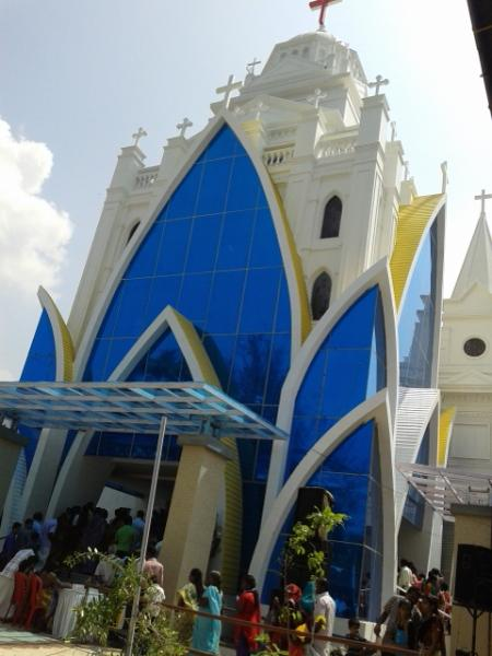 St Josephs Church in Kannamaly - a famous pilgimage center