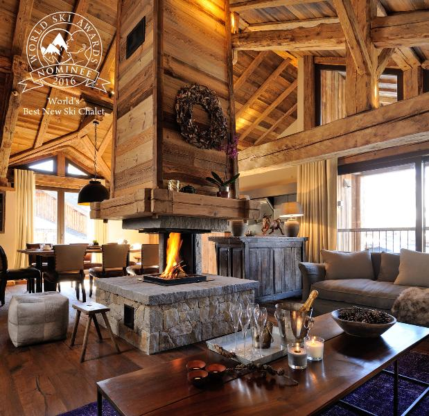 Roof top living with ancient beams and fabulous central fireplace