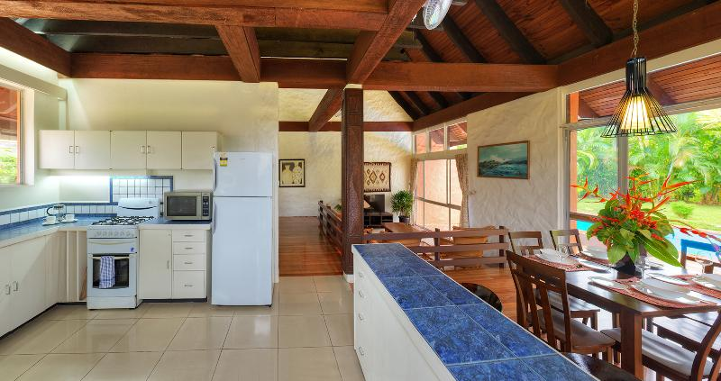 Well equipped gourmet kitchen with direct outdoor access.
