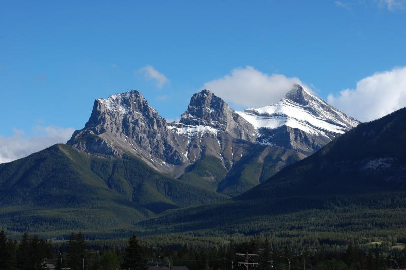 Vista de 3 hermanas montañas desde el balcón.