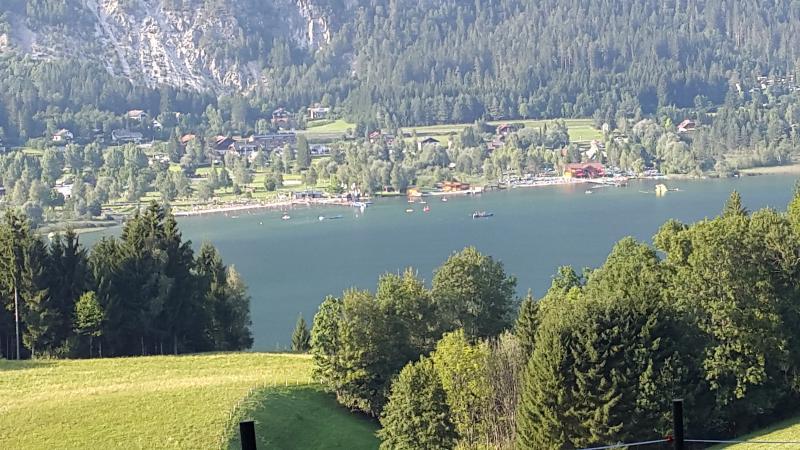 Perfect, overlooking PresseggerSee Lake & Mountain, holiday rental in Kreuzen