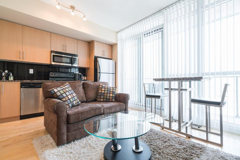 Executive 1 bed suite condo at maple leaf sq  where all the action is try it you'll be back for more