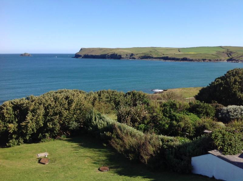 Wonderful sea views towards Pentire Point and, the other way to Stepper Point, above Padstow