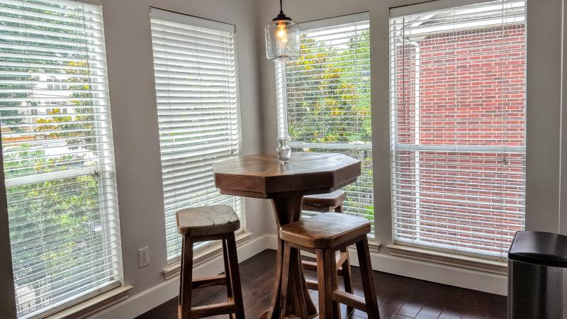 Breakfast nook gets plenty of natural light. Ideal for your morning coffee.