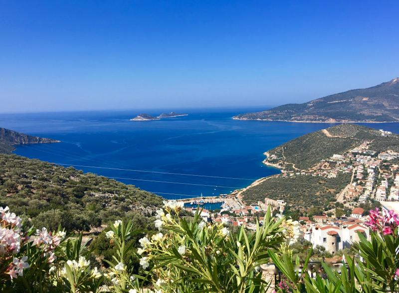 The amazing Panoramic Views over Kalkan Bay from ALL aspects of Villa Jade