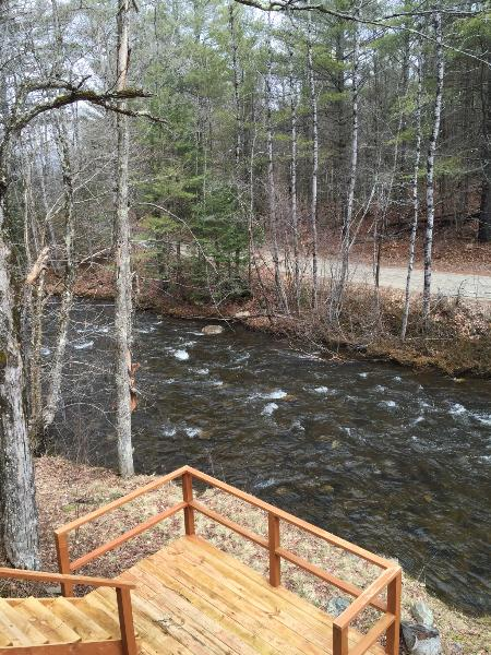View of Stream from Back Deck