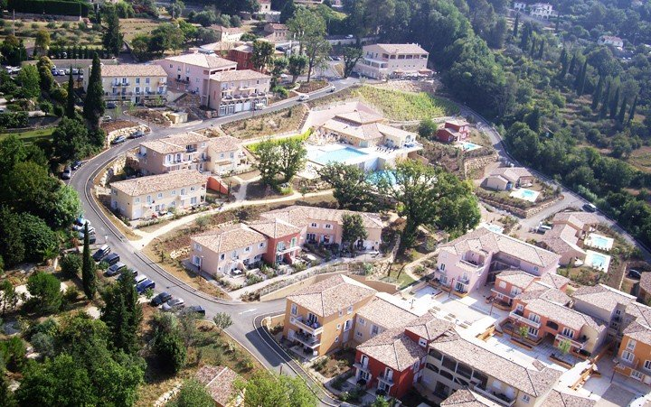 Overhead view of the resort