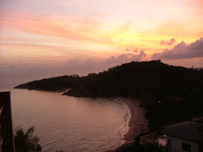 Morning sun raise from the dining room Balcony