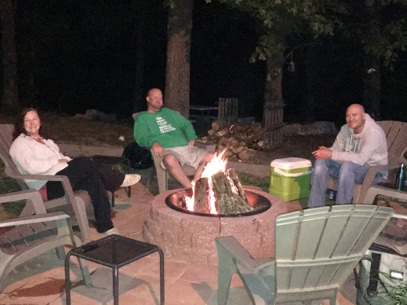 Our Guests Enjoying the Fire Pit. Lots of Fun and Conversations.