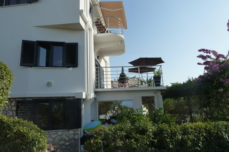 Terrace, balcony and spacious garden. Very private.