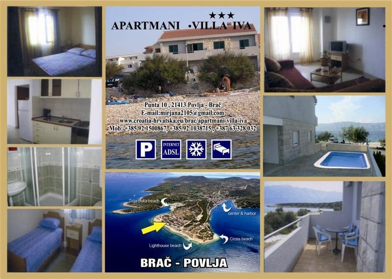 Villa Iva, vacation rental in Povlja