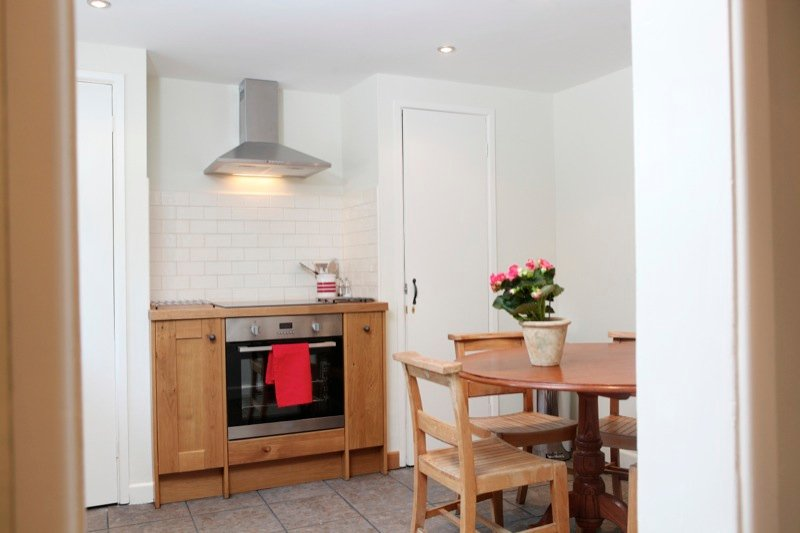 Dine in the beautiful kitchen
