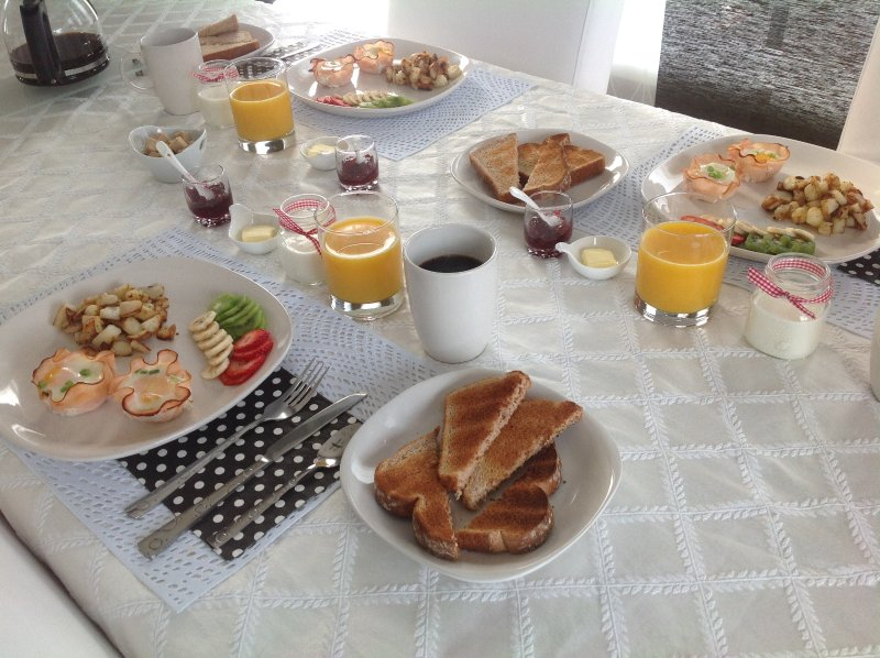 Exemple de petits déjeuner proposés.