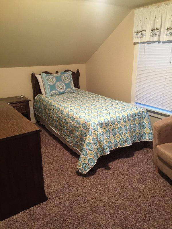 2 Twin beds upstairs bedroom