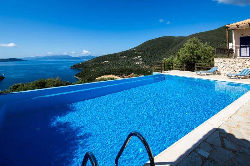 Villa Kalyvia - Endless Sea view on Sivota Hills like a Dream, vacation rental in Lefkada