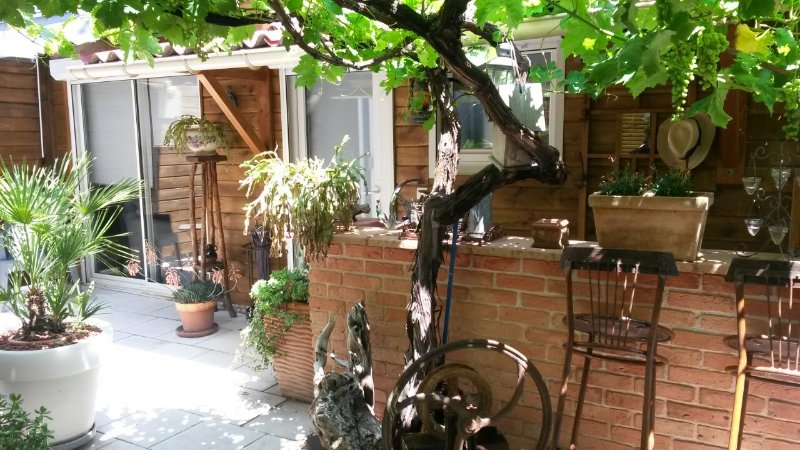 Appartement avec loggia, jardin et terrasse, holiday rental in Aucamville