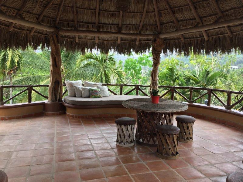 Top level, open-air terrace