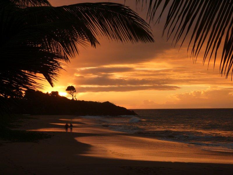 Le coucher de Soleil sur la plage ... A bientôt?