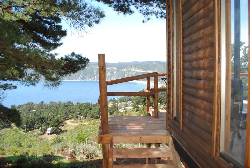 Vista desde la entrada a la cabaña