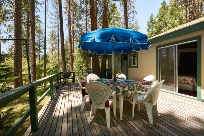 Spacious Deck with Patio Furniture & BBQ