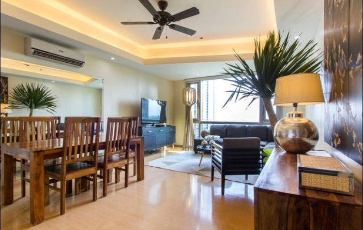 Tastefully furnished living and dining area.
