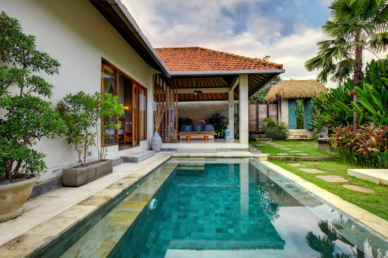 Pool and villa