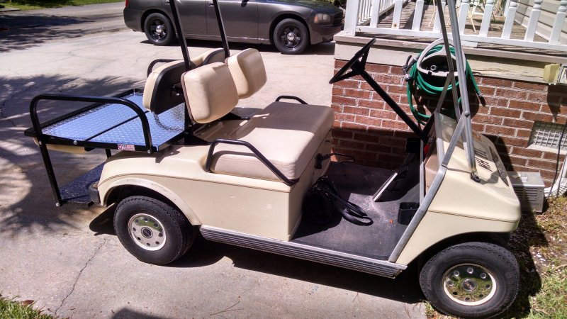Golf Cart with seat down