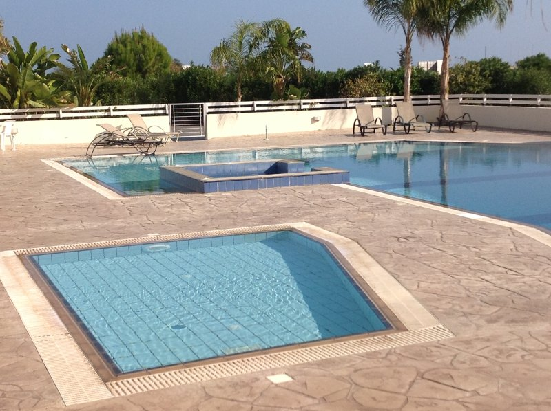Children's pool, main pool and jacuzzi