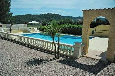 Heated pool with fabulous views over to Cessenon sur Orb
