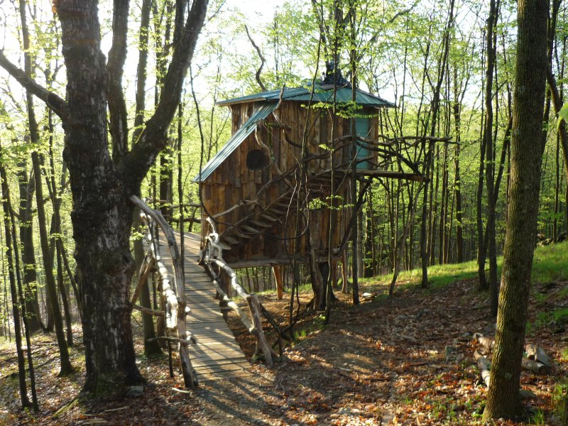 The Hermit Thrush Treehouse, location de vacances à Comstock