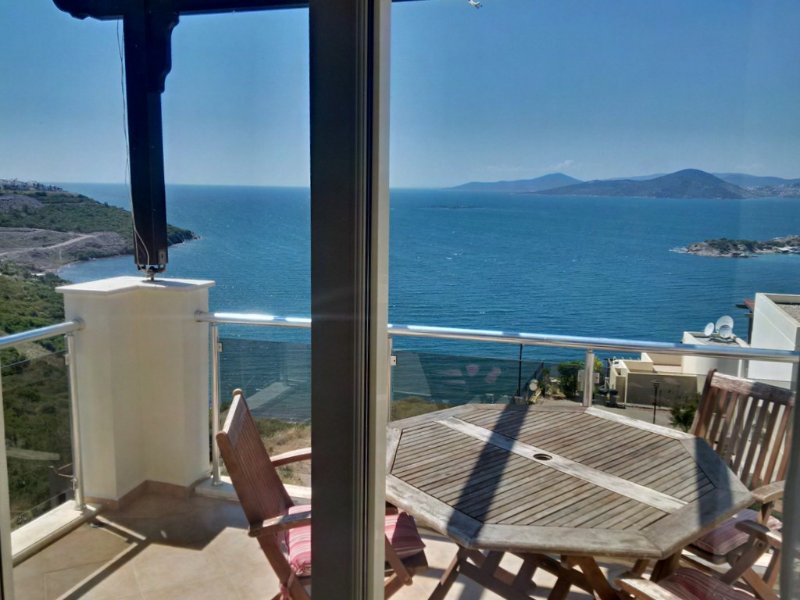 Sea View from Bedroom, with terrace.