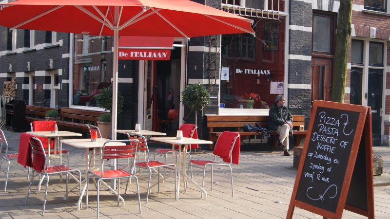 restaurants in your street for breakfast, lunch and diner. Or just for coffee or a glass wine