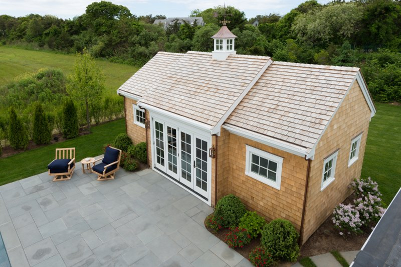 Pool House from master bedroom deck