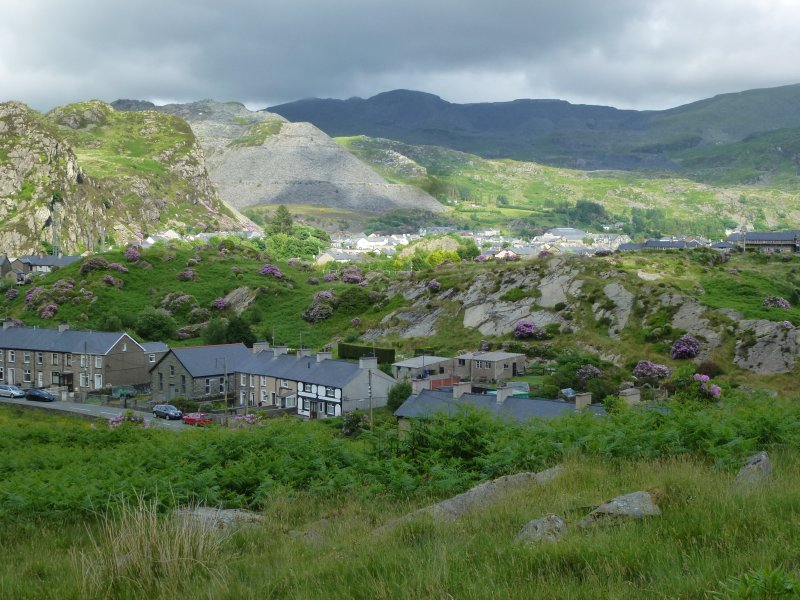 View over Blaenau Ffestiniog - from path that leads from the cottage directly onto the mountainside