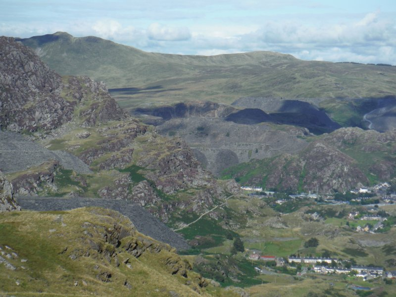 Explore further up one of the many footpaths - high into the Moelwyn Mountains - stunning scenery.